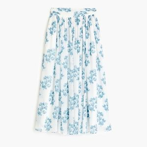 Point Sur floral maxi skirt in crinkle chiffon